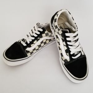 Van's black and white checkered sneakers